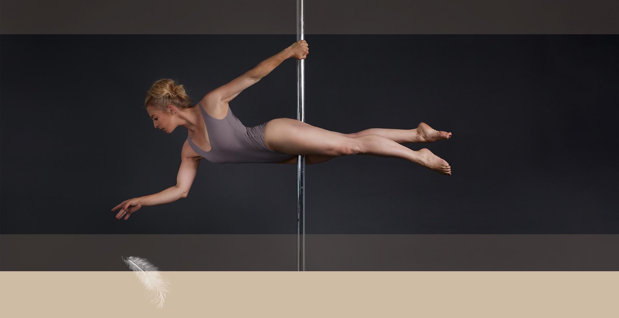 Pole Dance Figur schwebend